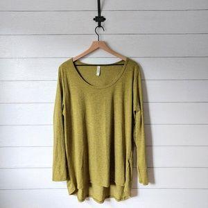 LuLaRoe Lynnae Heathered Green Long Sleeve Tunic